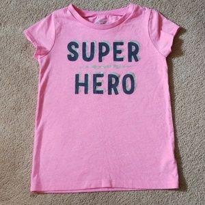 Oshkosh girls size 6 pink short sleeve shirt